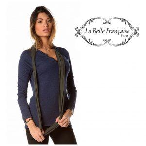 La Belle Française Paris® Camisola Laurence Azul Marinho | Tamanho M