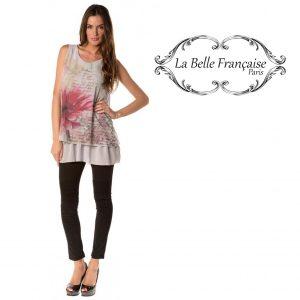 La Belle Française Paris® Top Chloe Cinza | Tamanho S