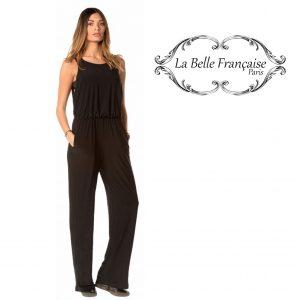 La Belle Française Paris® Macacão Coralie Preto | Tamanho M