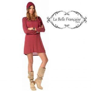 La Belle Française Paris® Vestido Laetitia Burgundy | Tamanho M