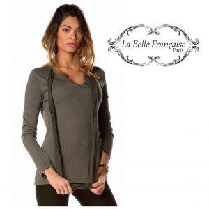 La Belle Française Paris® Camisola Laurence Cinza | Tamanho M