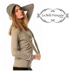 La Belle Française Paris® Camisola Laurence Bege | Tamanho M