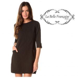 La Belle Française Paris® Vestido Elisabeth Preto | Tamanho S