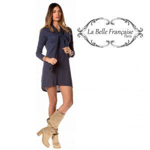 La Belle Française Paris® Vestido Laetitia Azul Marinho | Tamanho M