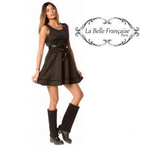 La Belle Française Paris® Vestido Lou Preto | Tamanho S