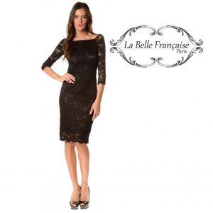 La Belle Française Paris® Vestido Prune Preto | Tamanho L
