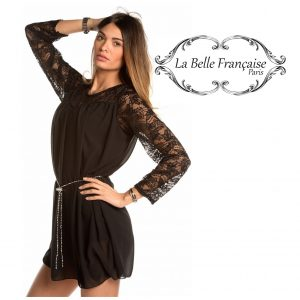 La Belle Française Paris® Vestido Simone Preto | Tamanho S