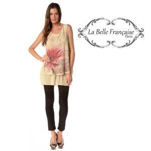 La Belle Française Paris® Top Chloe Bege | Tamanho S