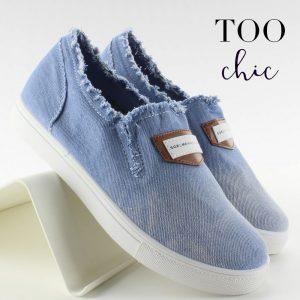 Sapatilhas Too Chic Fashion® Light Blue NB22 | Tamanho 38