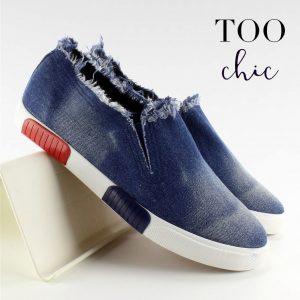 Sapatilhas Too Chic Fashion® Blue BL65 | Tamanho 38