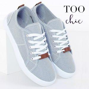 Sapatilhas Too Chic Fashion® Navy Blue JX70P | Tamanho 36
