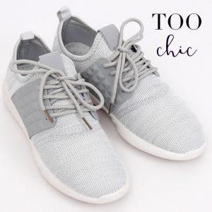 Sapatilhas Too Chic Fashion® Light Grey HY2810 | Tamanho 37