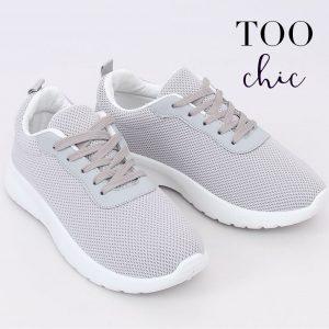 Sapatilhas Too Chic Fashion® Grey BK-116 | Tamanho 38