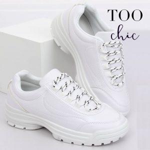 Sapatilhas Too Chic Fashion® White 6256  | Tamanho 37