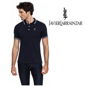 Javier Larrainzar® Polo Navy | Tamanho M | 95% Algodão