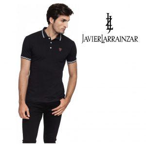 Javier Larrainzar® Polo Black | Tamanho S | 95% Algodão
