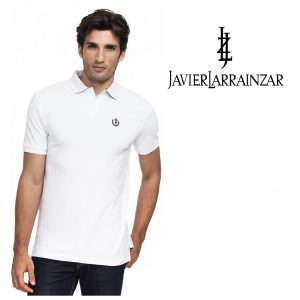 Javier Larrainzar® Polo Branco | Tamanho M | 100% Algodão