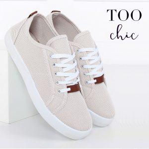 Sapatilhas Too Chic Fashion® Beige JX70P | Tamanho 40