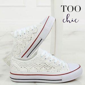 Sapatilhas Too Chic Fashion® White NB282P | Tamanho 38
