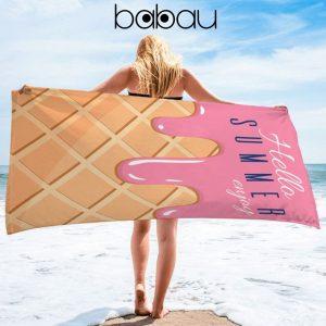 Toalha de Praia Bolacha Hello Summer | 170 x 90cm