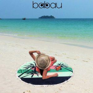 Toalha de Praia Redonda | Palm Tree | Diâmetro 150 cm