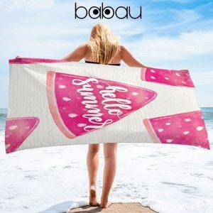 Toalha de Praia Melancia Hello Summer | 170 x 90cm