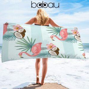 Toalha de Praia Flamings Coco | 170 x 90cm