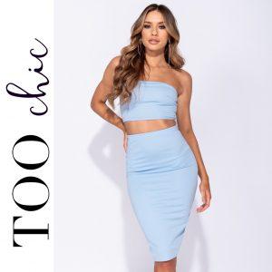 Vestido Too Chic Fashion®Blue | Tamanho L