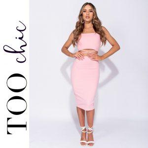 Vestido Too Chic Fashion®Pink | Tamanho M
