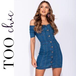 Vestido Too Chic Fashion®Denim | Tamanho M