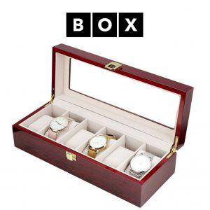 Caixa de Arrumação para 6 Relógios | Acabamento Premium | Madeira | PD85
