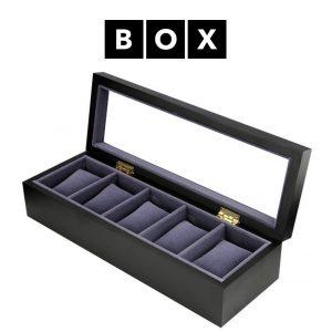 Caixa de Arrumação para 5 Relógios | Acabamento Premium | Madeira | PD88