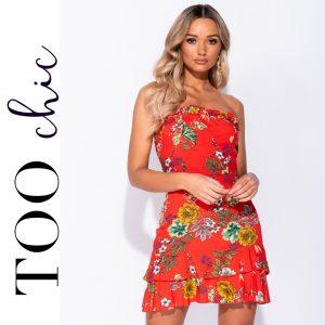 Vestido Too Chic Fashion®Floral | Tamanho M