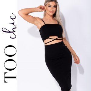 Vestido Too Chic Fashion® Black | Tamanho M