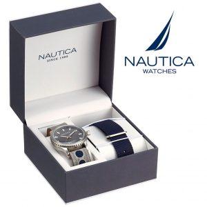 Relógio Nautica® NAD14532G | 10ATM | Bracelete Extra