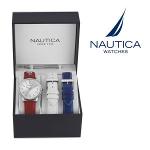 Relógio Nautica® NAI16530M | 10ATM | 2 Braceletes Extra