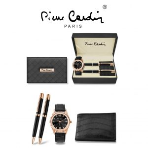 Conjunto Pierre Cardin® PCX8221G26   Relógio   Carteira    2 Canetas