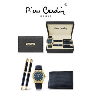Conjunto Pierre Cardin® PCX8220G25 | Relógio | Carteira |  2 Canetas