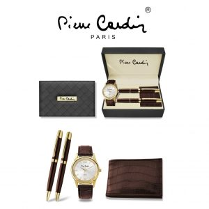 Conjunto Pierre Cardin® PCX8219G24   Relógio   Carteira    2 Canetas
