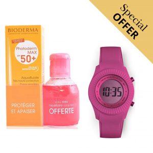 Oferta Especial | Conjunto de Proteção Solar Photoderm Max Aquafluide Bioderma e Relógio Digital Extreme Collection® Watermellon