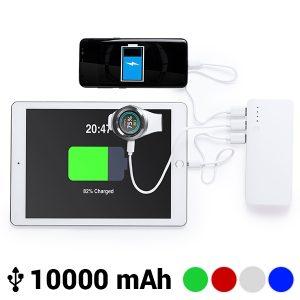 Power Bank com Tripla USB 10000 mAh | Disponível em 4 Cores!