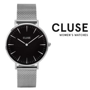 Relógio Cluse® La Bohème Mesh Silver/Black | 38MM