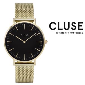 Relógio Cluse® La Bohème Mesh Gold/Black | 38MM