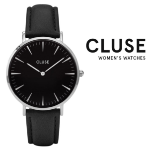 Relógio Cluse® La Bohème Mesh Silver Black | 38MM