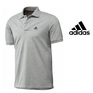 Adidas® Polo Essentials Cinza | Tecnologia Climalite® Cotton