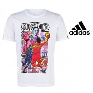 Adidas® T-Shirt Young Talents Basketball | Tecnologia Climalite® Cotton