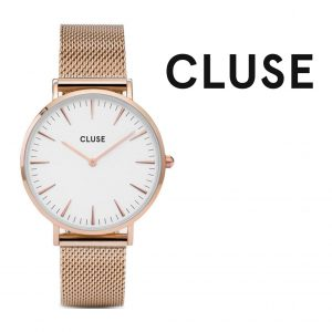 Relógio Cluse® La Bohème Mesh Rose Gold/White | 38MM