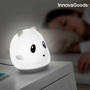 Lâmpada Tátil Recarregável de Silicone Panda Home LED