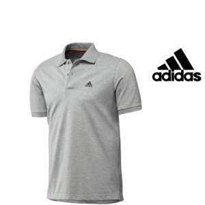 Adidas® Polo Essentials Cinza | Tecnologia Climalite® Cotton