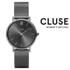 Relógio Cluse® Minuit Mesh Dark Grey | 33MM